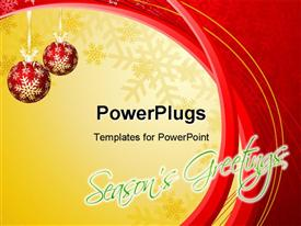 Christmas & New Year's greeting card powerpoint template