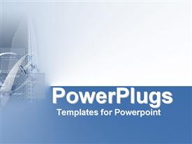 Corporate blue montage of cables symbolizing network security template for powerpoint
