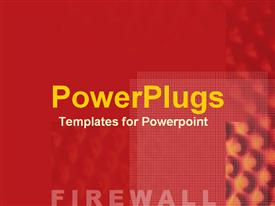 Hot bright red danger signaling the alert and prevention of a firewall powerpoint template