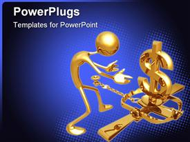 Concept & presentation figure 3D powerpoint theme