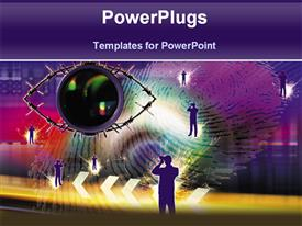 High tech presentation background
