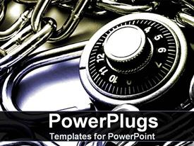 PowerPoint template displaying padlock