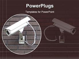 Security cameras powerpoint template