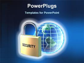 World wide data security powerpoint theme