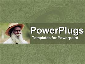 PowerPoint template displaying an ash colored background with an elderly black man