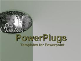 PowerPoint template displaying wonderful golden shared cameo moment between two who have loved each other for many years