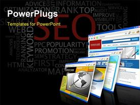 SEO - Search Engine Optimization poster powerpoint theme