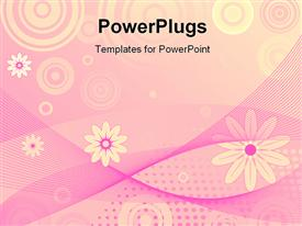 Abstract floral art design background powerpoint design layout