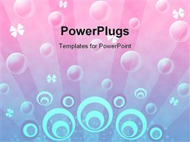 PowerPoint template displaying white and pink shapes on a pink background