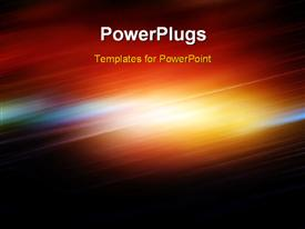 PowerPoint template displaying abstract depiction with motion blur and diagonal light waves