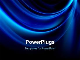 PowerPoint template displaying be modern with futuristic powerful blue backgrounds