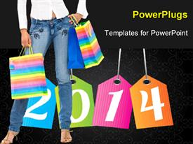 Shopping background template for powerpoint