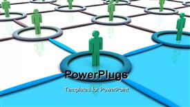 Silhouettes of people. 3D powerpoint theme