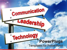 Sing for communication leadership technology powerpoint design layout