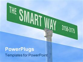 Themed sign, the smart way powerpoint design layout