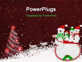 Beautiful Christmas (New Year) background powerpoint theme