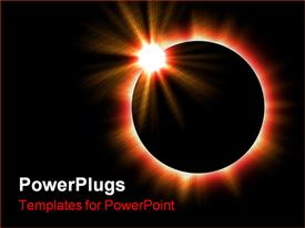 PowerPoint template displaying solar eclipse of the sun