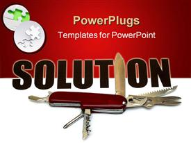 PowerPoint template displaying many ways to solve a problem - conceptual in the background.