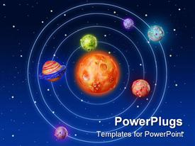 Space planets fantasy handmade colorful universe galaxy powerpoint template