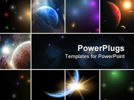 PowerPoint template displaying natural Universe