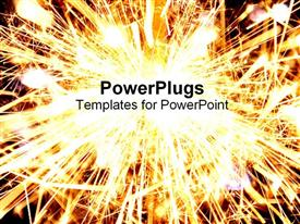 PowerPoint template displaying bright sparkler explosion