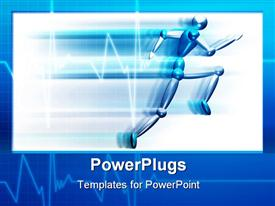 Person running fast powerpoint theme