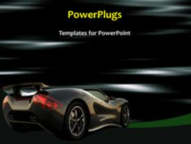 PowerPoint template displaying sports car concept in the background.