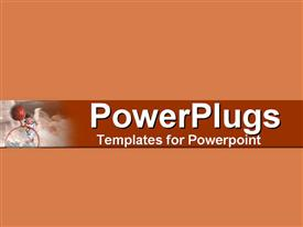PowerPoint template displaying a plain pitch background with a red strip in the middle