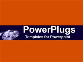 PowerPoint template displaying abstract depiction of a plain orange back ground board
