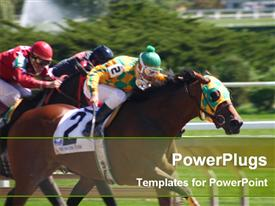 Horse rider racing template for powerpoint