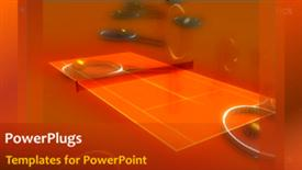 PowerPoint template displaying sports Background in the background.