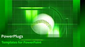 PowerPoint template displaying sports Background