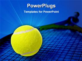 Tennis racket and a ball powerpoint template