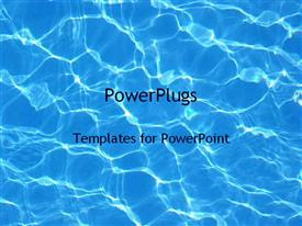 PowerPoint template displaying water in a pool in the background.