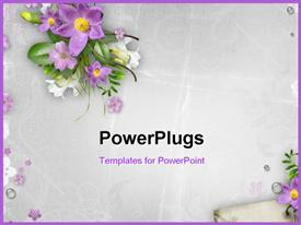 Spring Flowers On Textured Background powerpoint design layout