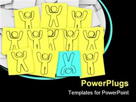 One person stands out from the group in this episode of Sticky Note Theatre template for powerpoint