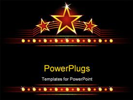 Big stars over place for your text powerpoint template