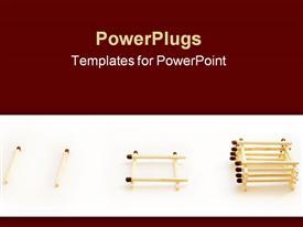 PowerPoint template displaying match well. small components of the great success in the background.
