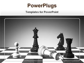 PowerPoint template displaying checkmate in the background.