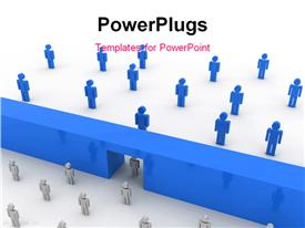 PowerPoint template displaying strategy concept computer generate depiction for design