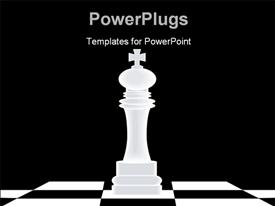 Chess Piece (King) powerpoint theme