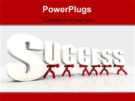 Hard success metaphor for many use - digital artwork template for powerpoint