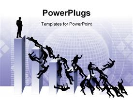 Ilustration, business people battle from the top, diagram, war, battle from the superior position powerpoint template