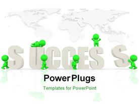 People around the word success template for powerpoint