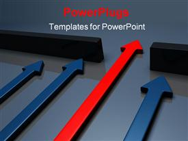 PowerPoint template displaying conceptual depiction - successful strategy in the background.
