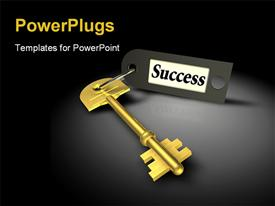 Key to success on black template for powerpoint