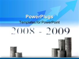 PowerPoint template displaying bank deposit advantageous holdings successful investing save your money