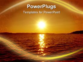 PowerPoint template displaying sunset over sea - nice evening in Croatia in the background.