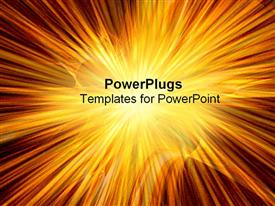 PowerPoint template displaying supernova explosion
