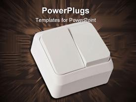 PowerPoint template displaying wall light switch in the background.